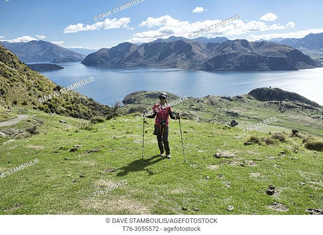 Tremendous views of Lake Wanaka and Mount Aspiring from Roy's Peak, Wanaka, New Zealand