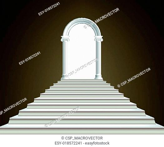 Staircase and arch
