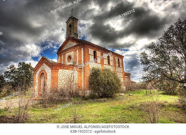 Abandoned church, Villa Villaflores, Guadalajara, Spain