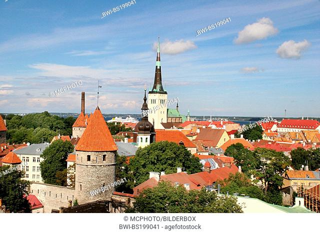 view on the oldtown of Tallinn, Estonia