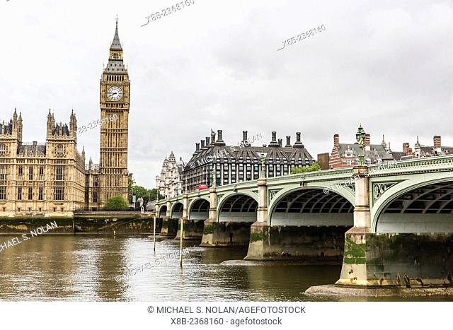 The Palace of Westminster, including the Clock Tower, Big Ben, London, England, United Kingdom