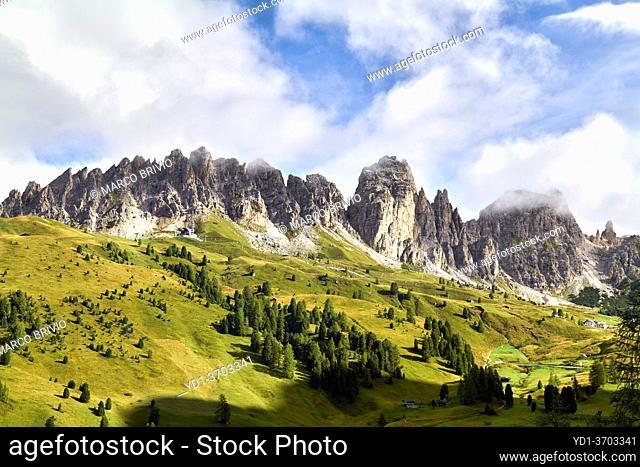 Puez Odle Natural Park. Dolomites. Italy. Puez Geisler Nature Reserve
