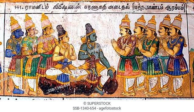 Ramayana at kumbakonam ramaswamy temple Stock Photos and Images |  agefotostock