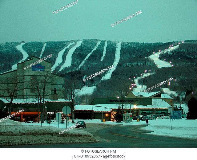 Beaupre, Quebec City, Quebec, Canada, Parc Du Mont-Sainte-Anne, Ski Resort, downhill skiing, ski lodge