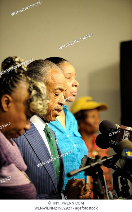 Rev Al Sharpton and Eric Garners family hold a press conference after NYPD cop is cleared in his death Featuring: Al Sharpton, Garner Family Where: Manhattan