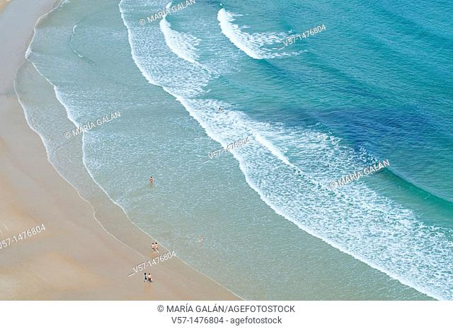 Seashore in Torimbia beach, view from above. Niembro, Asturias province, Spain