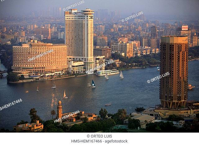 Egypt, Cairo, downtown, overview from the Cairo Tower
