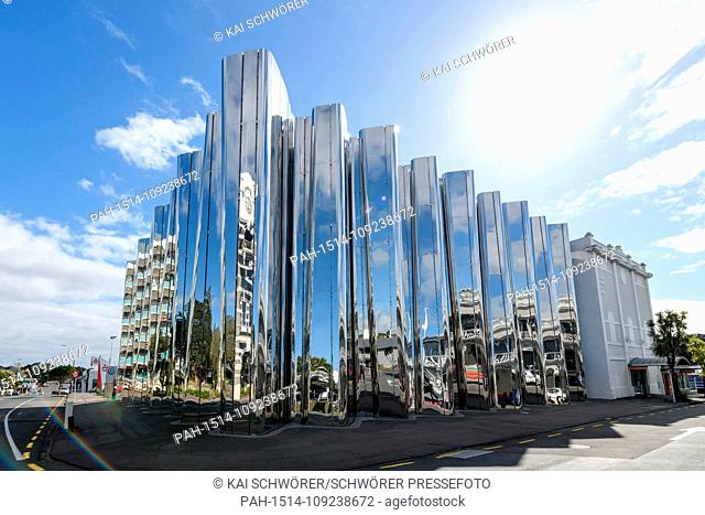 New Plymouth, New Zealand - September 9, 2018 - General view of the Len Lye Centre on September 9, 2018 in New Plymouth, New Zealand