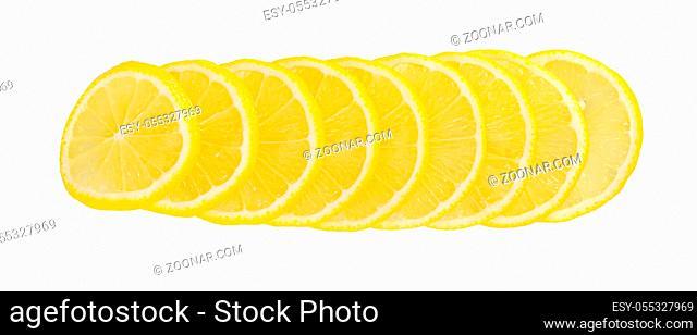 The fresh lemon isolated on white background