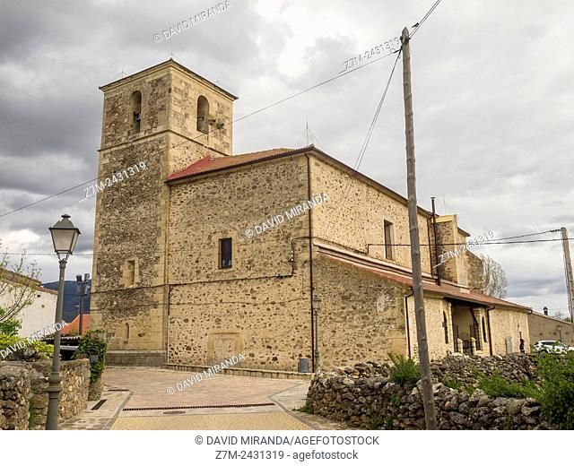 Church of San Miguel, Pinilla del Valle, Sierra Norte, Parque Nacional de la Sierra de Guadarrama. Madrid, Spain