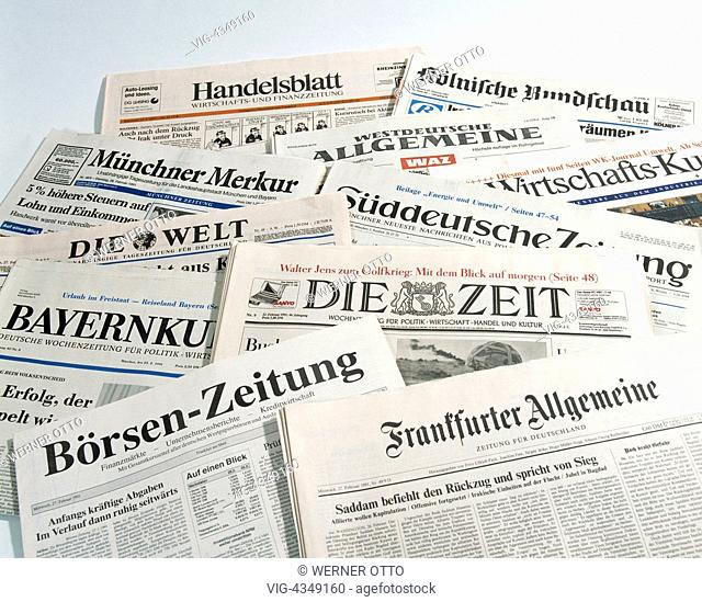 Zeitungen Deutsche Zeitungen Deutsche Wirtschaftszeitungen Zeitungen In Deutschland Tageszeitung Stock Photo Picture And Rights Managed Image Pic Vig 4349160 Agefotostock