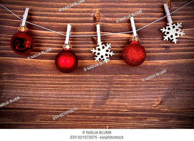 Snowflakes and Christmas Balls on a Line III