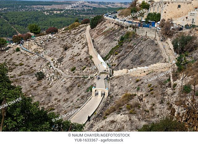 Way from Old Safed to ancient Cemetery,Tzfat, Galilee, Israel,Asia, Middle East