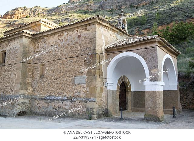 The ancient chapel in Somaen village in Soria province Castile Leon Spain