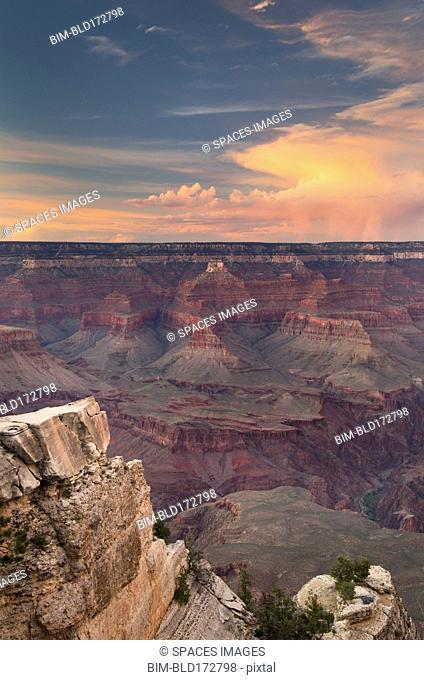 Grand Canyon under dramatic sky, Arizona, United States