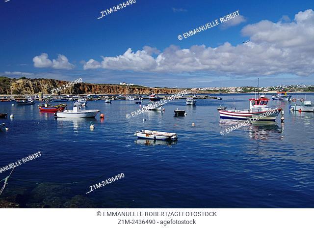 Sagres Harbour and fishing boats, Sagres, ALgarve, Portugal