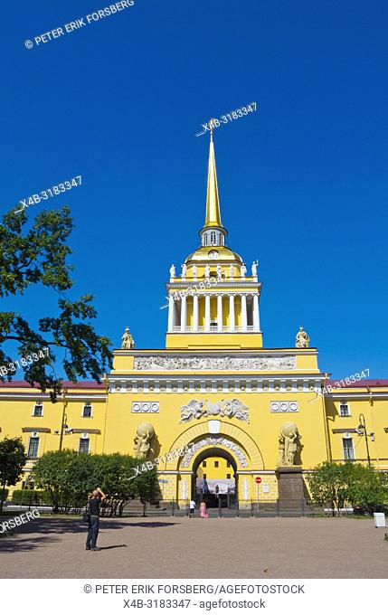 Admiralteystvo, Admiralty Building, Aleksandrovsky Garden, Saint Petersburg, Russia
