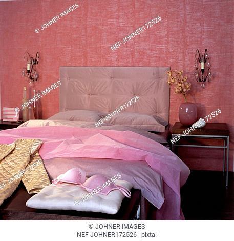 Bedroom Furnished in Pink