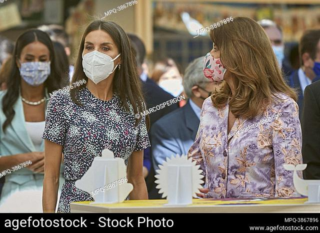 Queen Letizia attend opening of the 80th edition of the Madrid book fair at Retiro Park on September 10, 2021 in Madrid, Spain