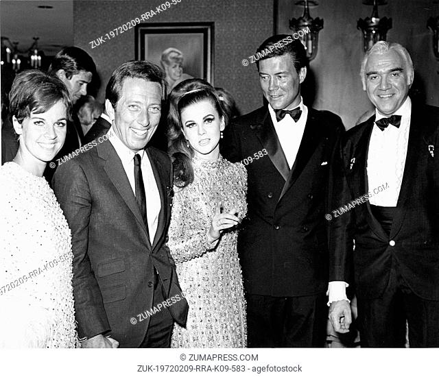 July 11, 1967 - Las Vegas, NV, U.S. - CLAUDINE LONGET, ANDY WILLIAMS, ANN-MARGARET, ROGER SMITH and LORNE GREENE at the after party for the premiere of...