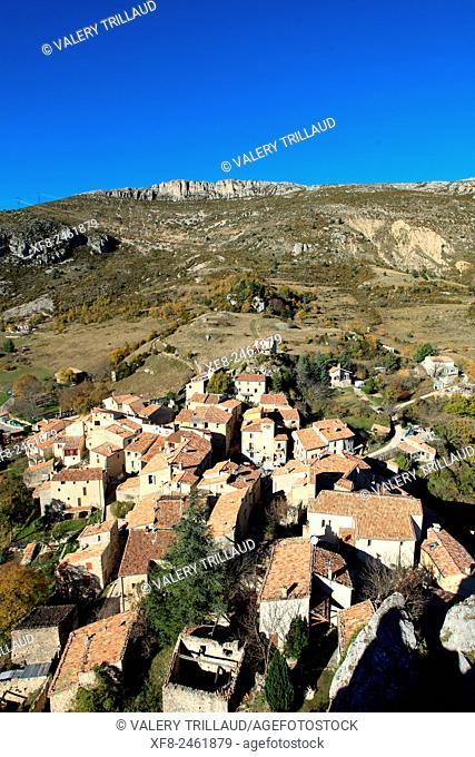 Village de Rougon, Verdon regional park, Alpes de Haute Provence, Provence, France
