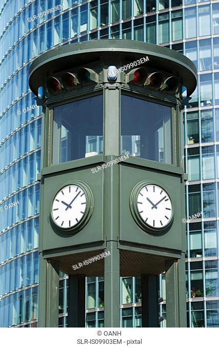 Clock tower, Potsdamer Platz, Berlin, Germany