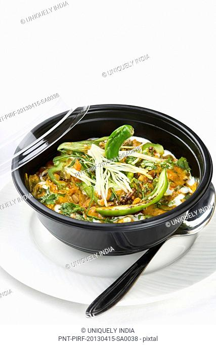 Subz Handi served in a bowl