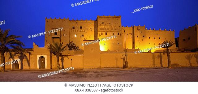 Taourirt Kasbah at dusk, Ouarzazate, Morocco