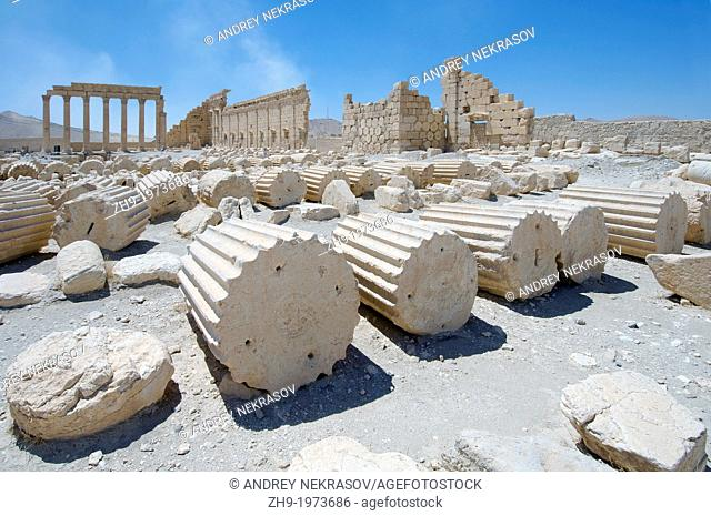 Ruins Temple of Bel (Temple of Baal) in the ancient city of Palmyra, Syria