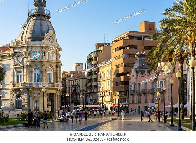 Spain, Murcia Community, Cartagena, Calle Mayor