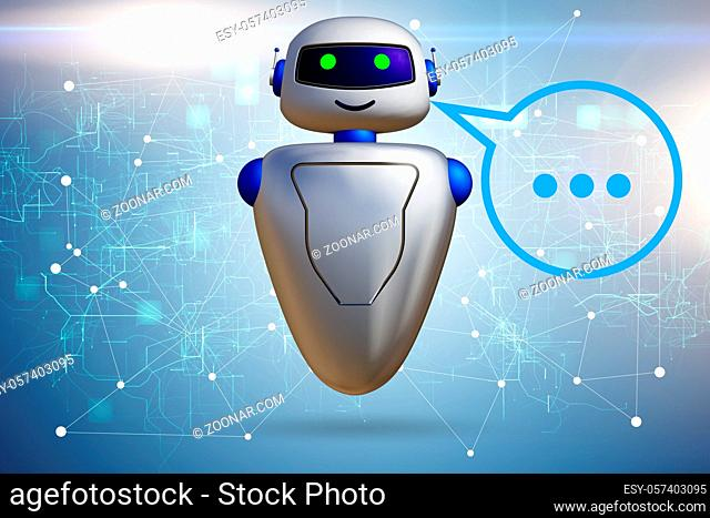 Concept of the chat bot - 3d rendering