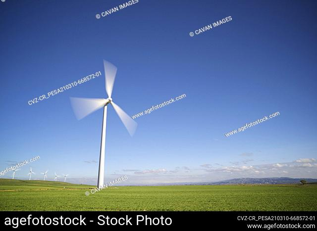 Windmill for renewable electric energy production in Spain