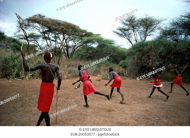 Masai Moran practising hunting skills