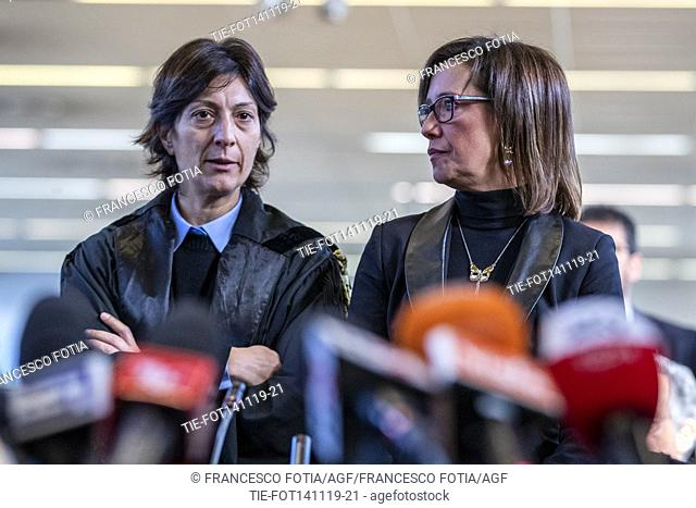 Ilaria Cucchi sister of Stefano Cucchi (R) while waiting the final sentence of the trial on the death of Stefano Cucchi, Rome, ITALY-14-11-2019