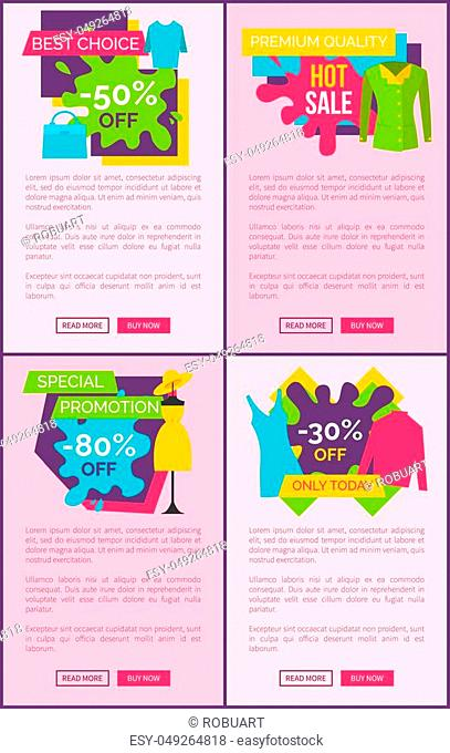 Big sale best choice weekend one day special price promotion posters bundle set of advertisement stickers promo labels design isolated on pink webpages