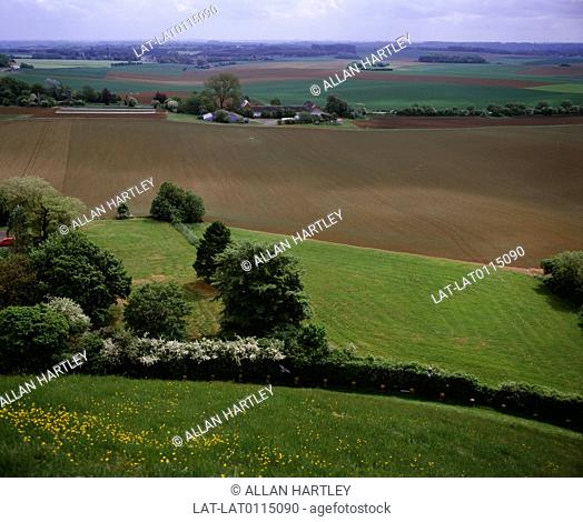 The battlefield of the Battle of Waterloo June 18,1815 between the First French Empire of Napoleon Bonaparte and the Alliance of the Seventh Coalition the...