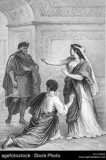 britannicus, works by jean root, illustrations by j. staal, publisher garnier freres 1870