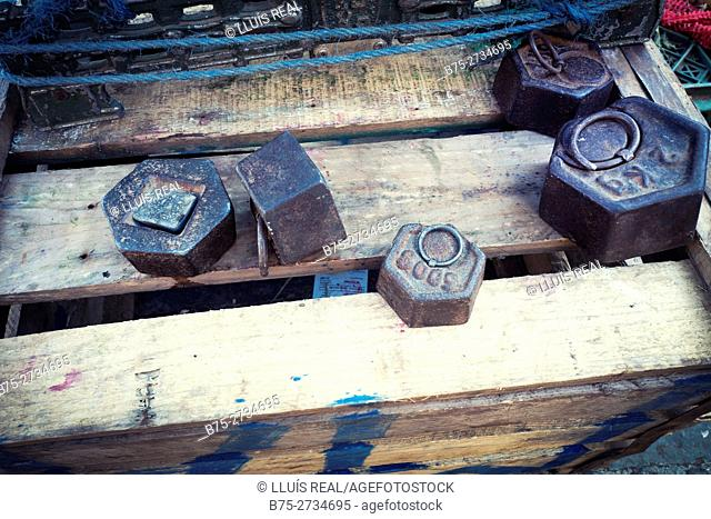 Old weights. Chaouen, Morocco
