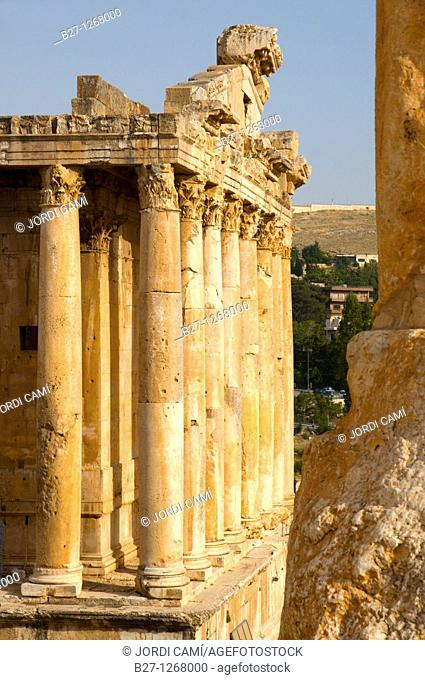 Bacchus temple , archaelogical site of Baalbek,UNESCO World Heritage Site  Bekaa valley  Lebanon