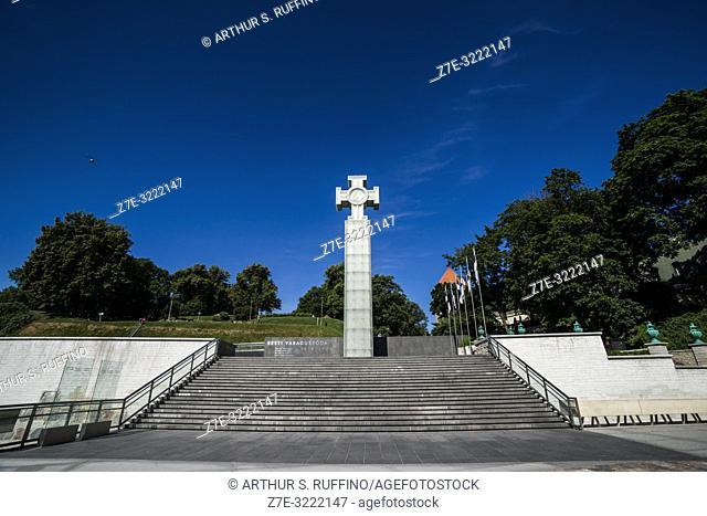 Monument to the War of Independence (Vabadussõja võidusammas), Freedom Square (Vabaduse väljak), Old Town, Tallinn, Estonia, Baltic States