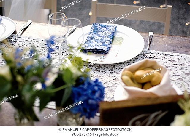 Table decorated for wedding parties