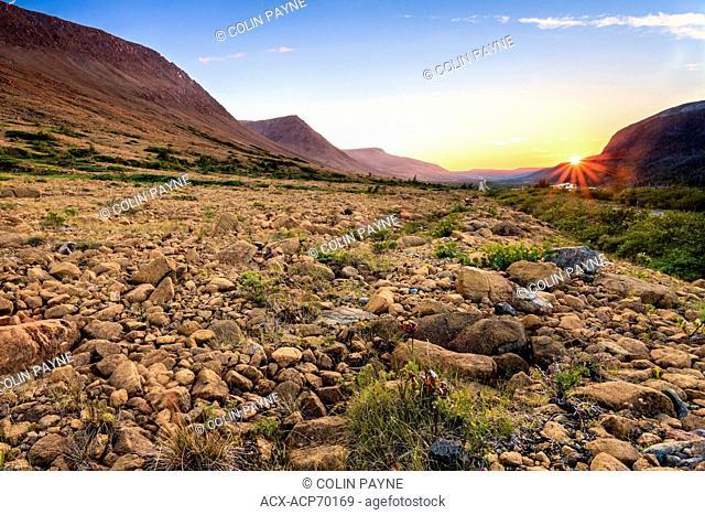 Sunset, Tableland Mountains, Gros Morne National Park, Newfoundland and Labrador
