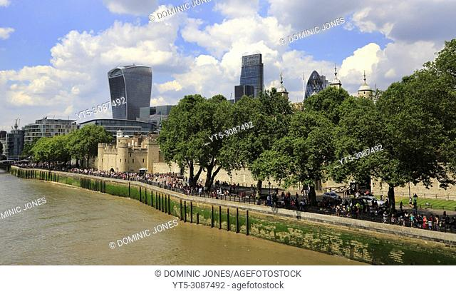 The view of 20 Fenchurch Street from Tower Bridge, London, England, Europe