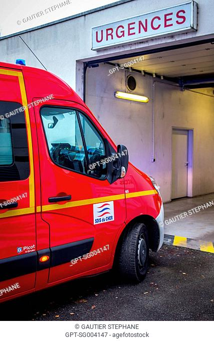 EMERGENCY DEPARTMENT AT THE HOSPITAL OF SAINT AMAND MONTROND, CHER (18), FRANCE