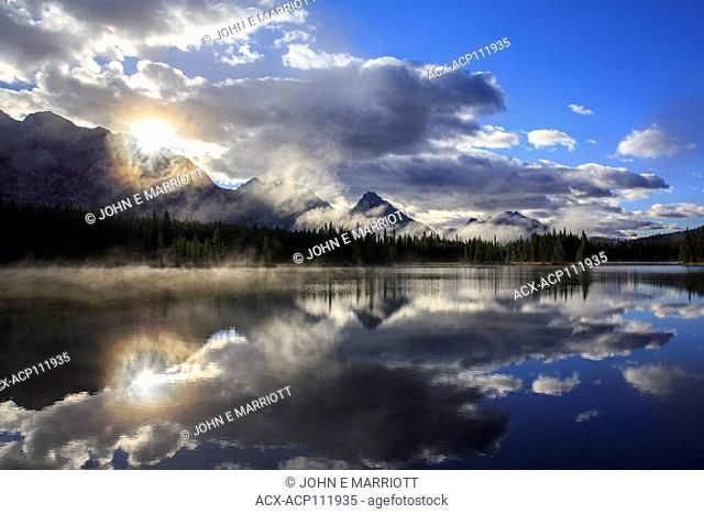 Spillway Lake and the Opal Range, Kananaskis Country, Alberta, Canada
