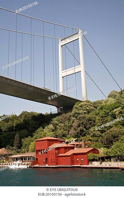 Fatih Sultan Mehmet Bridge and Hekimbasi Salih Efendi Yali beside the Bosphorus