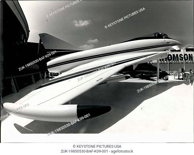 May 30, 1985 - Mock-up of a European Fighter Plane for the 1990s. (Credit Image: © Keystone Press Agency/Keystone USA via ZUMAPRESS.com)