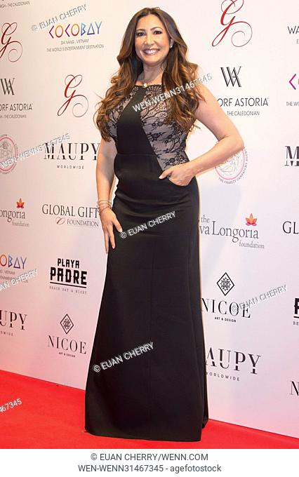 Celebrities attend The Global Gift Gala at Waldorf Astoria in Edinburgh. Featuring: Maria Bravo Where: Edinburgh, United Kingdom When: 17 May 2017 Credit: Euan...