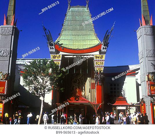 Mann's Chinese Theater, Hollywood, Los Angeles, California, Usa