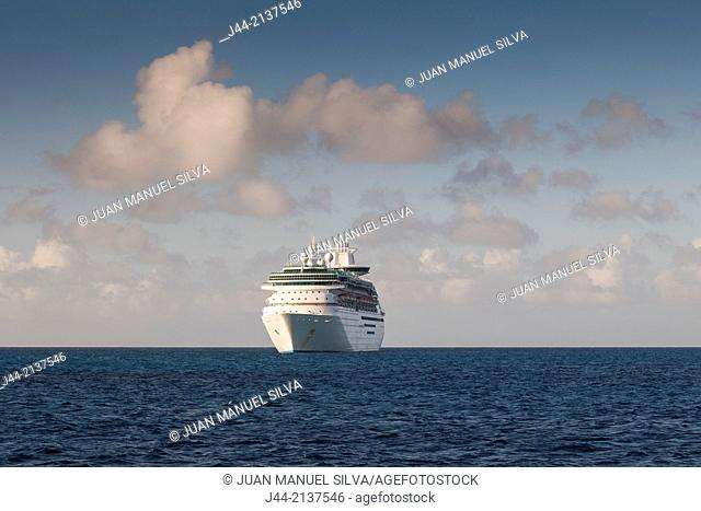 Cruise ship at sea, The Bahamas